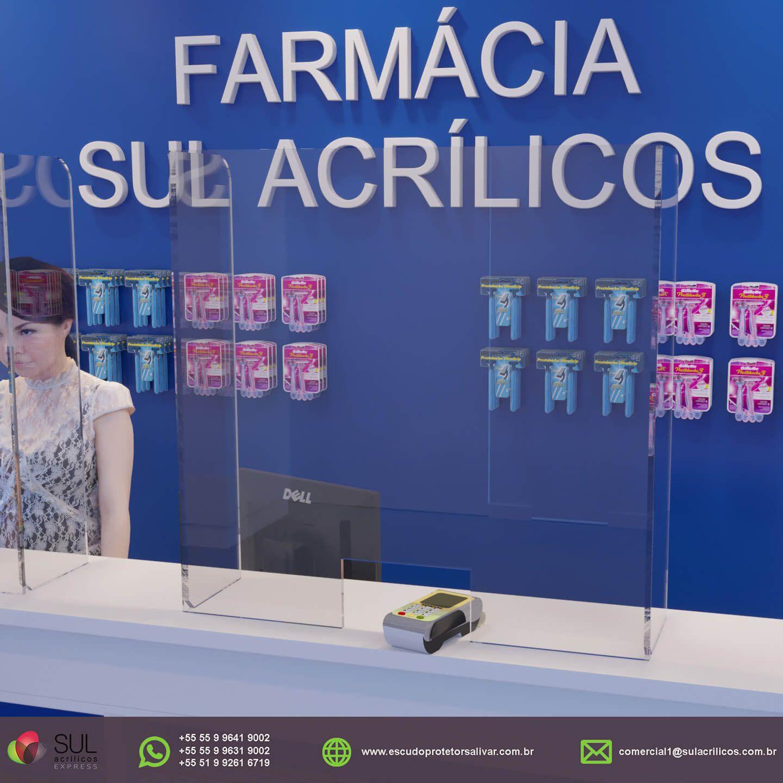 Barreira de Proteção para Balcão de Farmácias