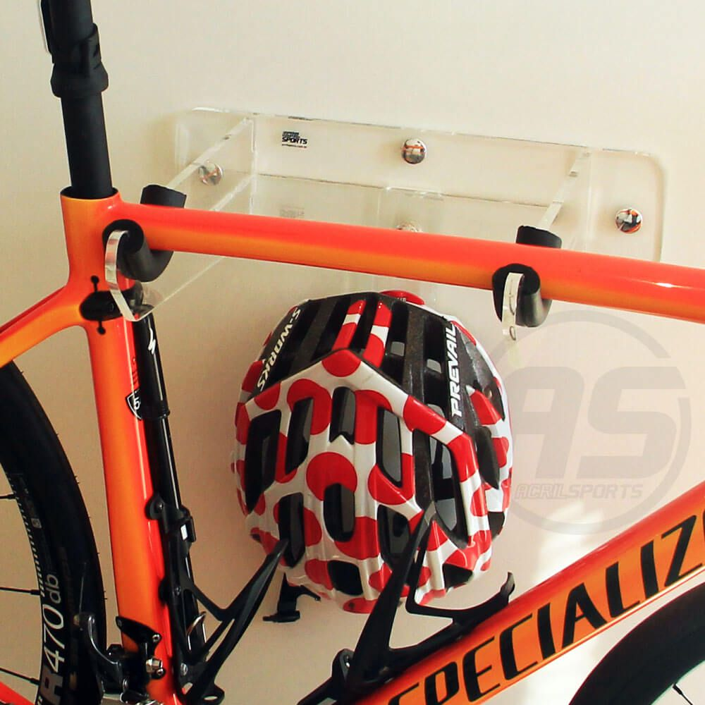 Suporte para bicicleta SPEED/TT, Capacete e Acessórios - Modelo Unique Transparente