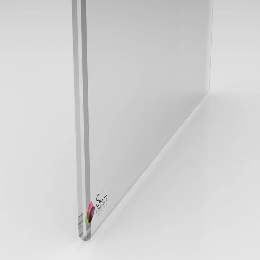 Display sanduíche dobrado porta folha A4 horizontal