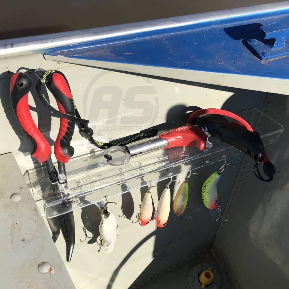 Suporte para organizar alicates e iscas para barco - Modelo Tucunaré
