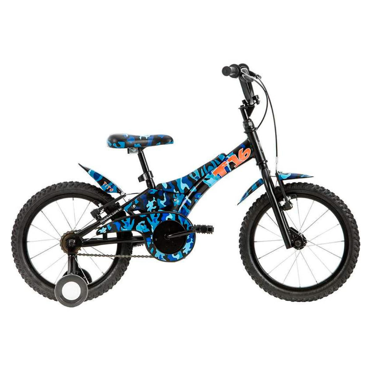 Bicicleta Groove Aro 16 Camuflada Azul