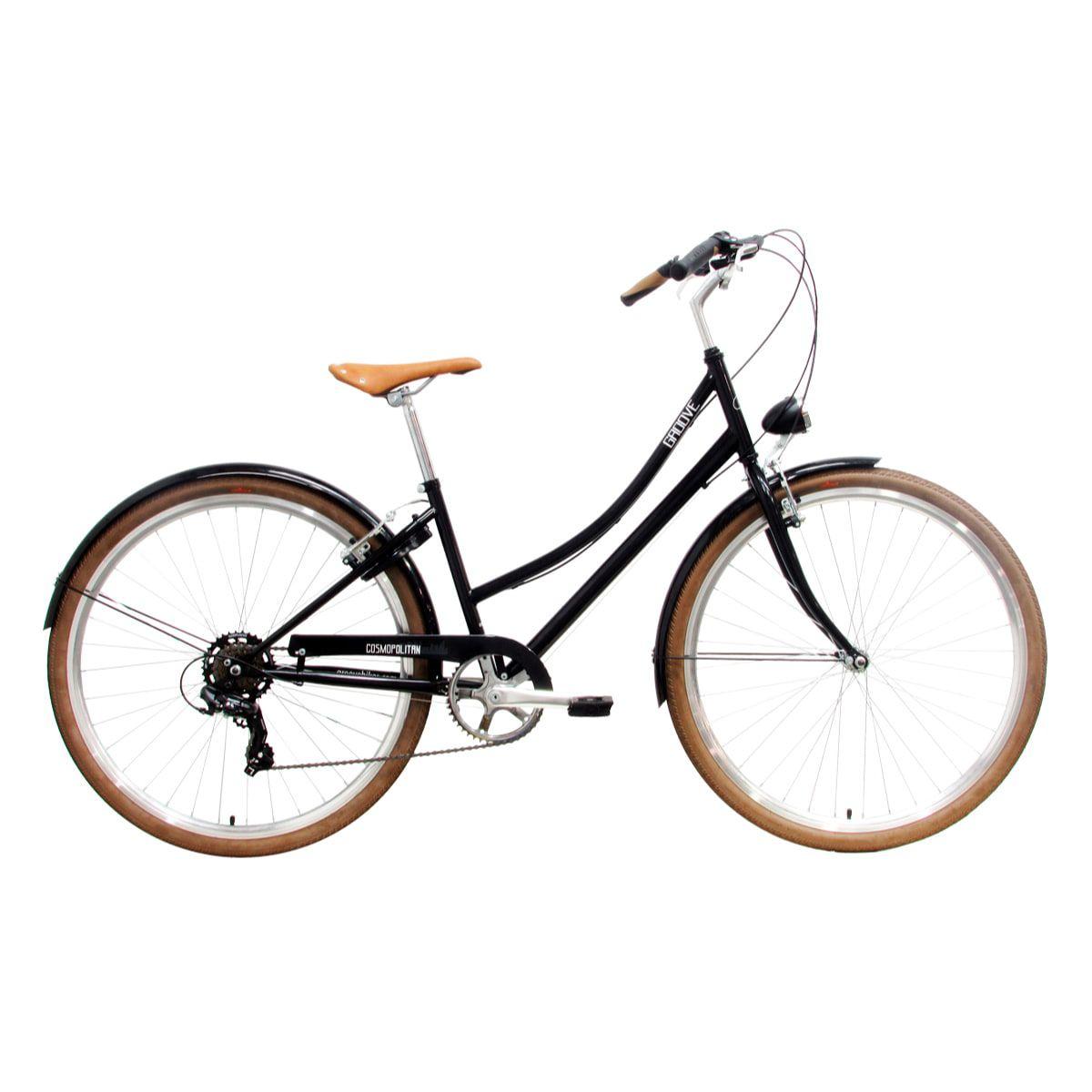 Bike Groove Cosmopolitan 7v 2019 Feminina Preta Easy Step