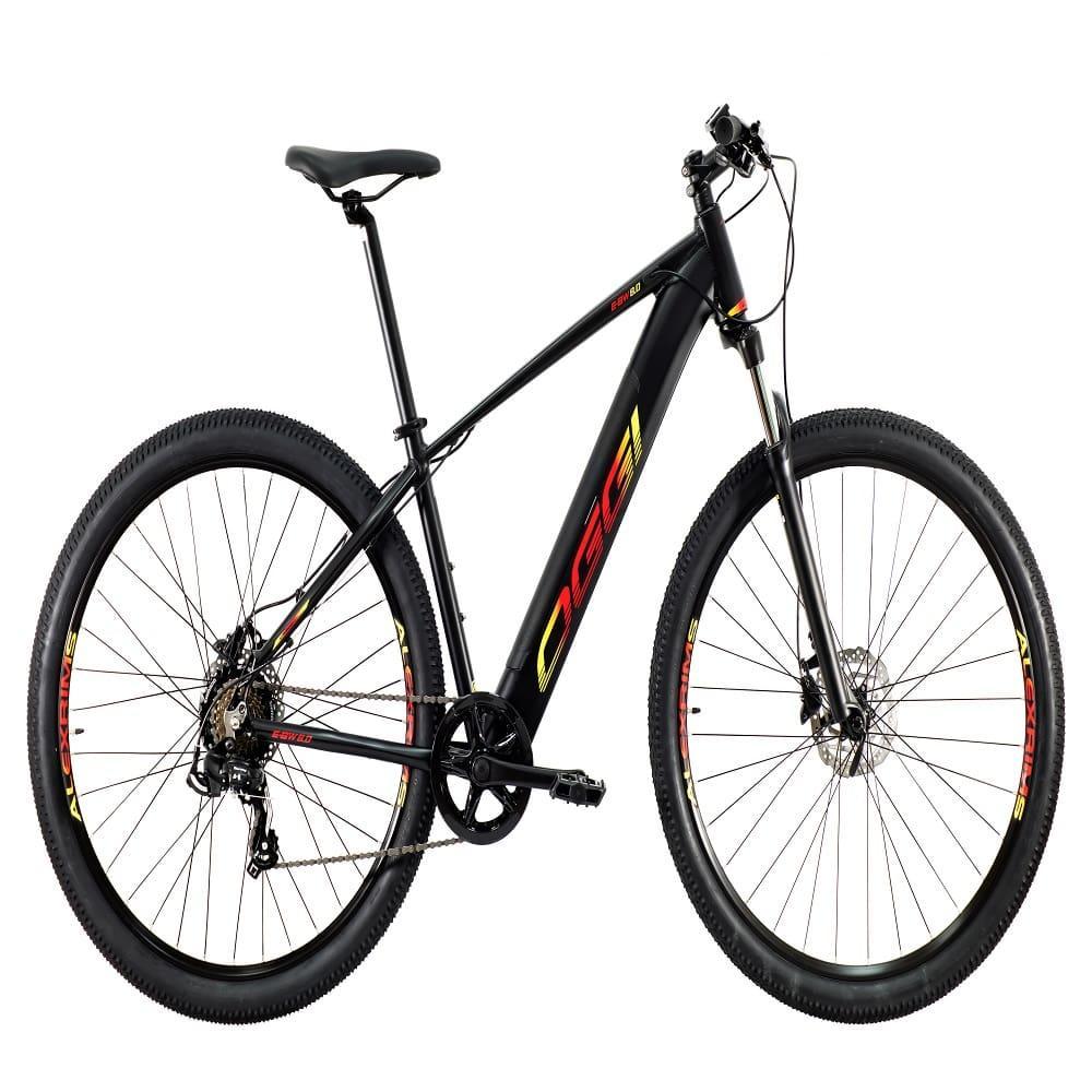 Bike MTB Eletrica Big Wheel 8.0 2021 Preto e Amarelo Shimano Tourney 7 Velocidades