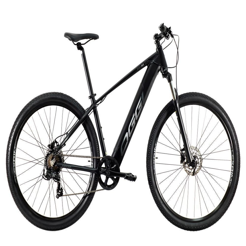 Bike MTB Eletrica Big Wheel 8.0 2021 Preto Shimano Tourney 7 Velocidades