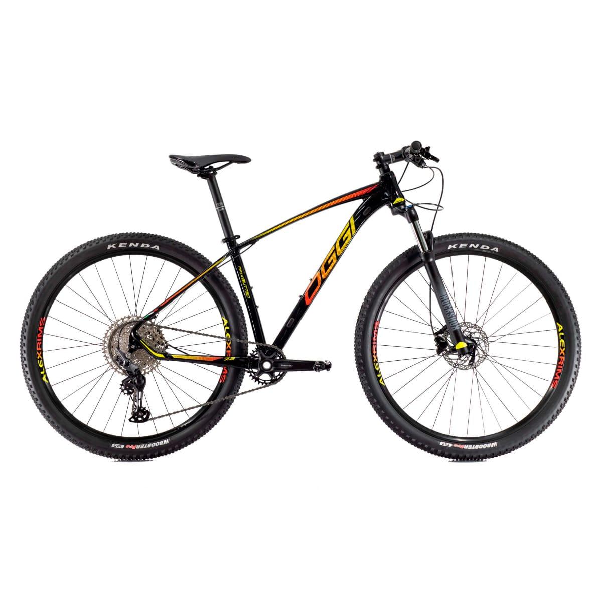 Bike Oggi 2021 Big Wheel 7.2 Shimano Deore Preto  Vermelho Amarelo