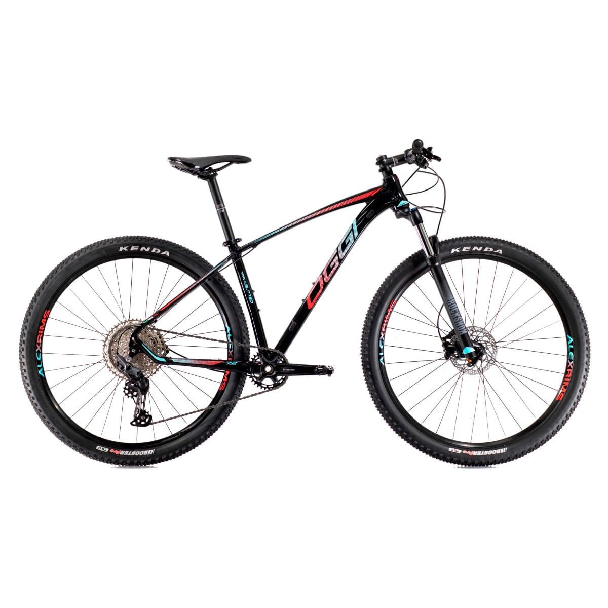 Bike Oggi 2021 Big Wheel 7.2 Shimano Deore Preto  Vermelho Azul