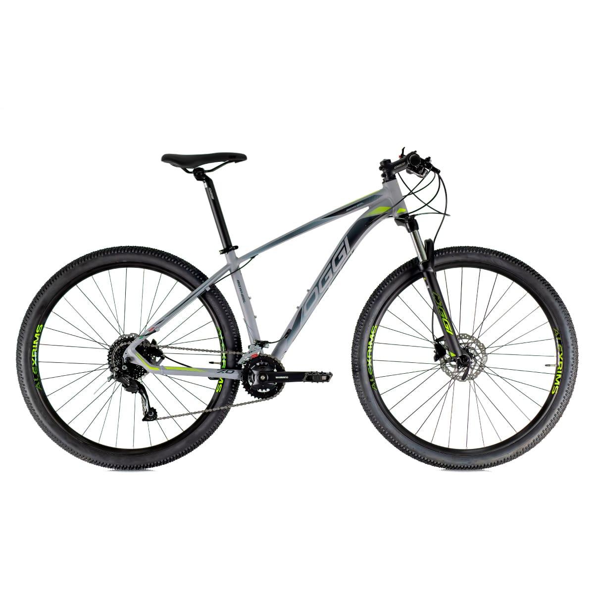Bike Oggi 7.0 2021 Big Whell 18 V Shimano Alivio Cinza Verde