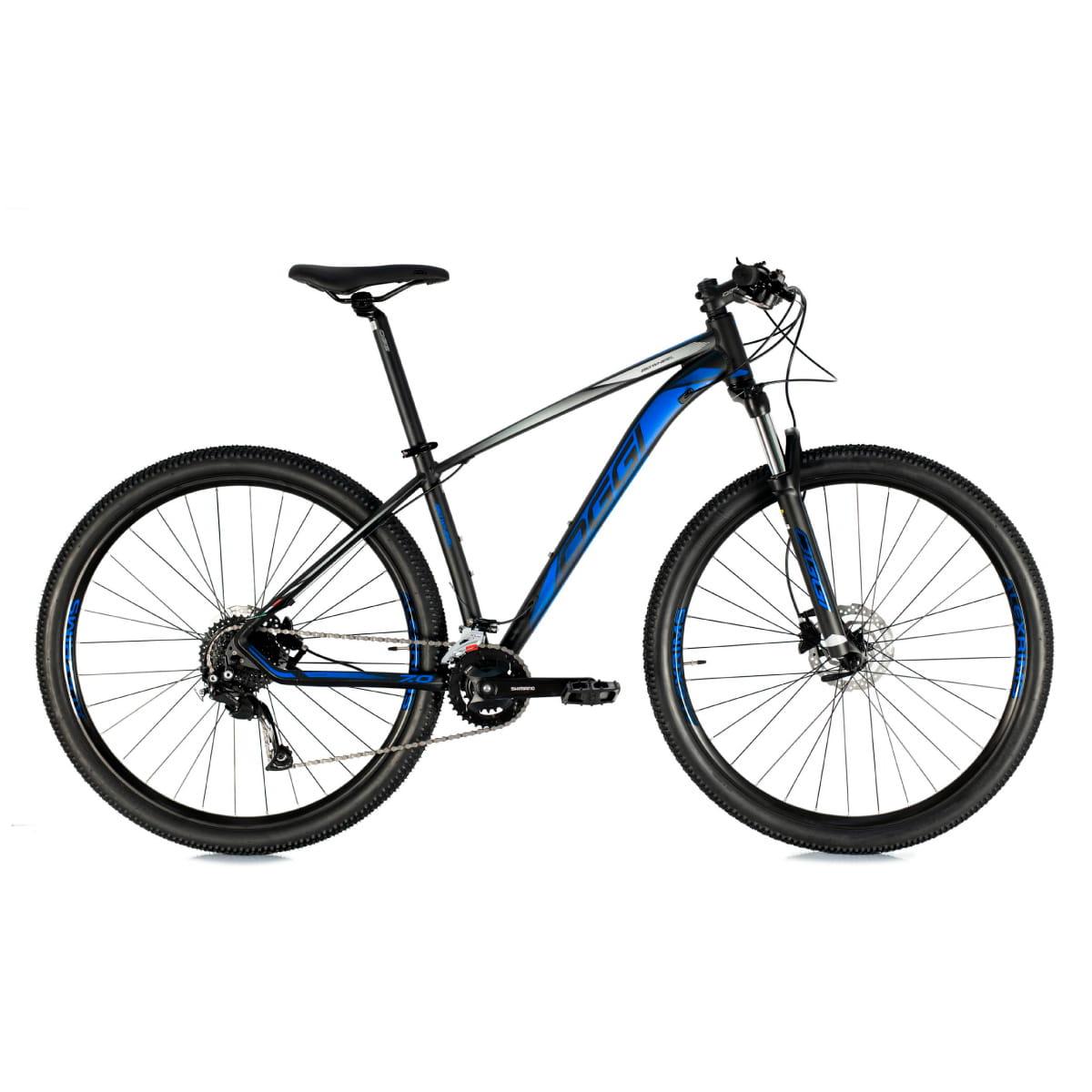 Bike Oggi 7.0 2021 Big Whell 18 V Shimano Alivio Preto Azul