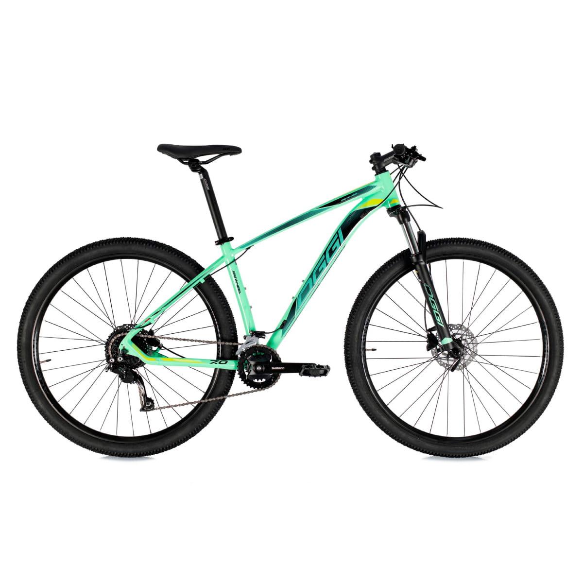 Bike Oggi 7.0 2021 Big Whell 18 V Shimano Alivio Verde