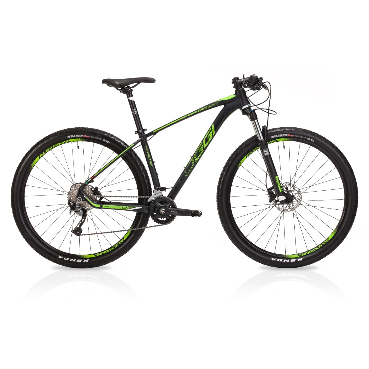 Bike Oggi 7.2 2019 Big Wheel Shimano Alivio Preto Verde