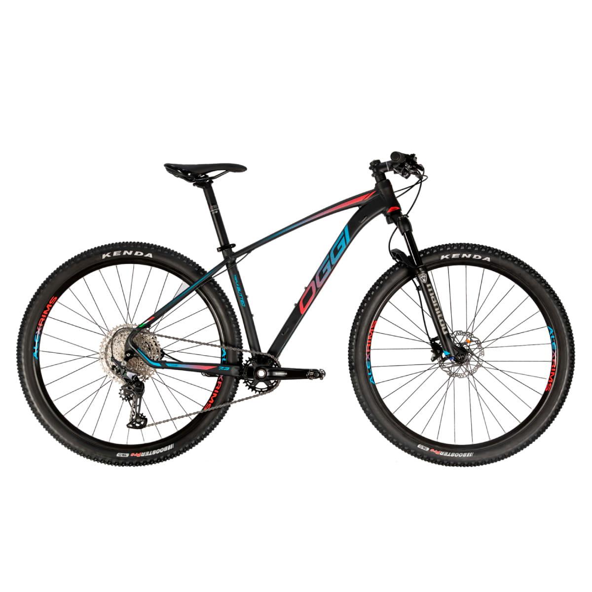 Bike Oggi 7.3 2021 Big Wheel Shimano Deore 12v Preto Vermelho