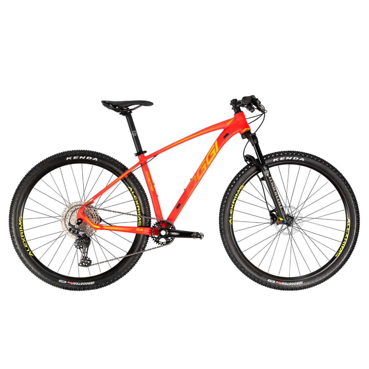 Bike Oggi 7.3 2021 Big Wheel Shimano Deore 12v Vermelho Amarelo