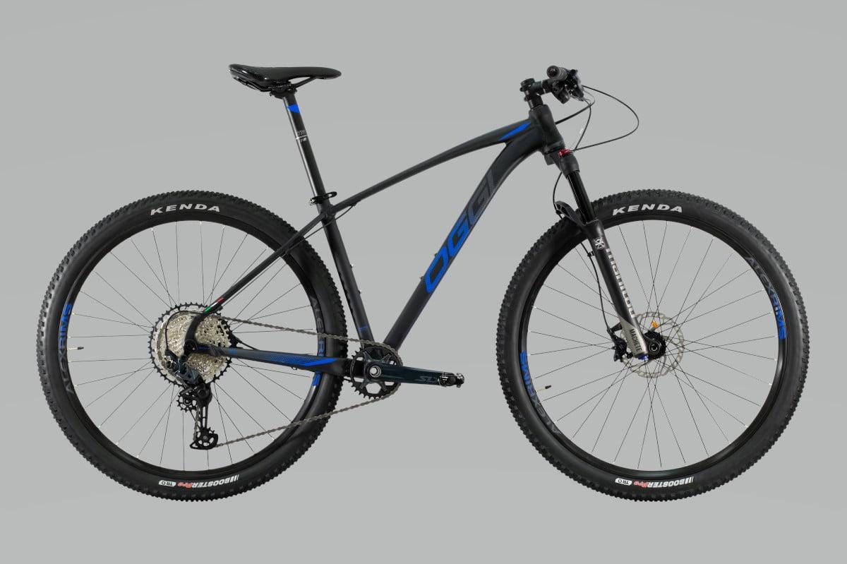 Bike Oggi 7.4 2021 Big Wheel Shimano SLX 12V 10-51 Original Preto e Azul