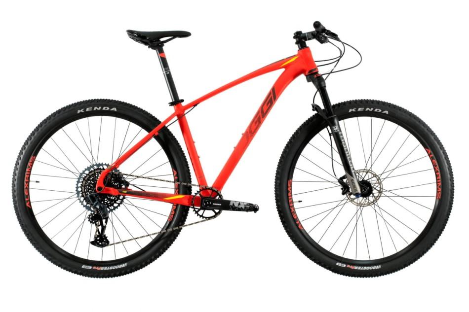 Bike Oggi 7.5 2021 Big Wheel Sram 12v 10-52 Original vermelho e preto