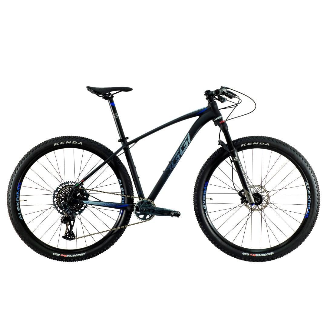Bike Oggi 7.6 2021 Big Wheel Sram GX 10-52 Original Preto e Azul