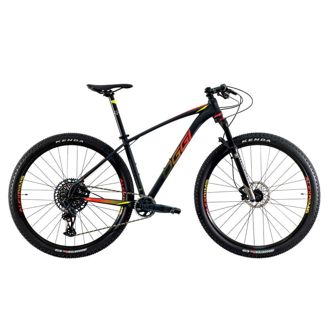 Bike Oggi 7.6 2021 Big Wheel Sram GX 10-52 Original Preto e Vermelho