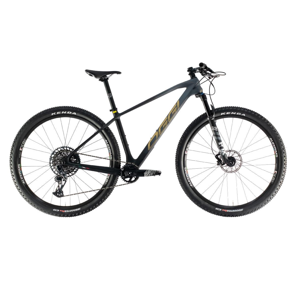 Bike Oggi Agile Pro 2021 Carbono Sram GX Preto Dourado