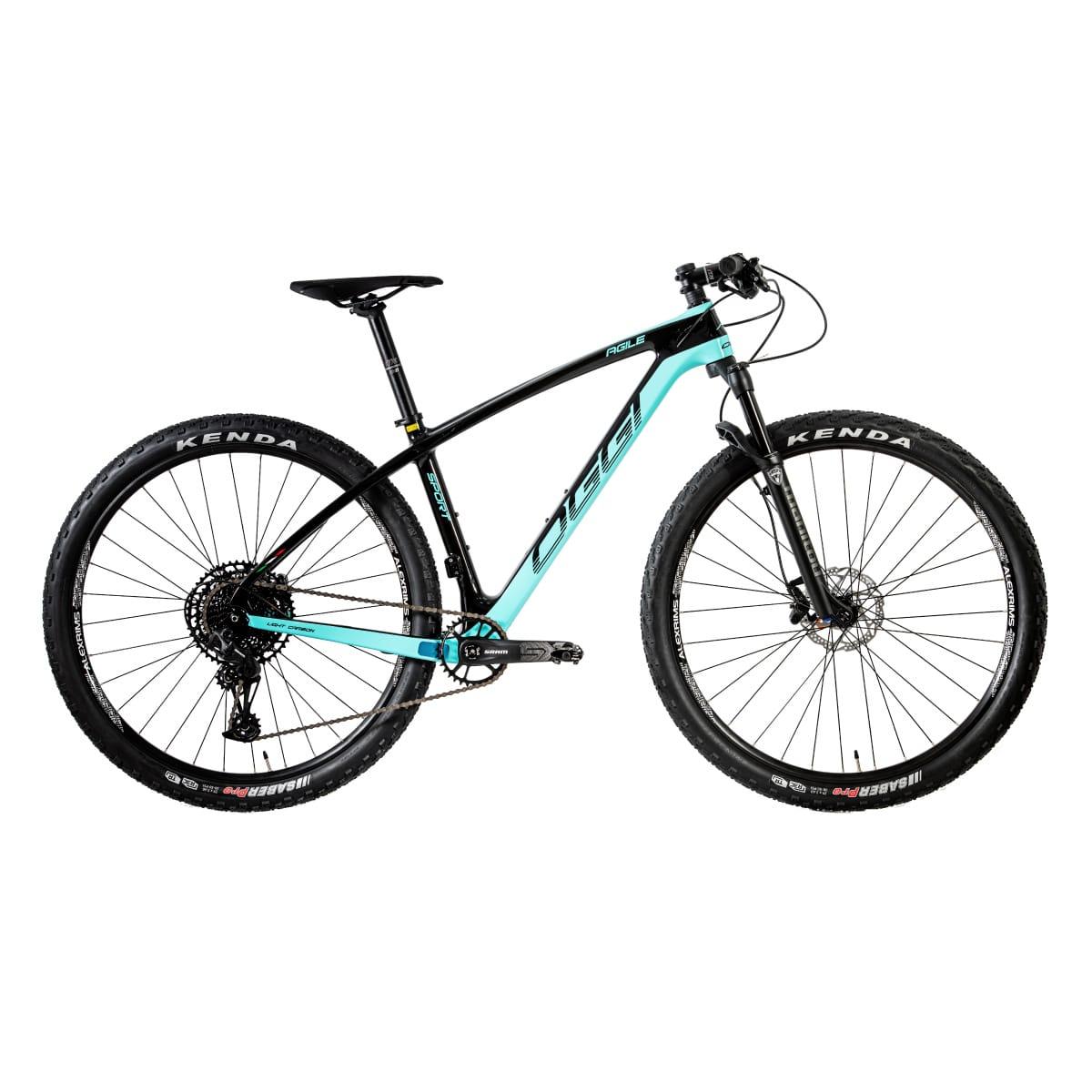 Bike Oggi Agile Sport Carbono 2020 Sram SX Original Preto/Azul