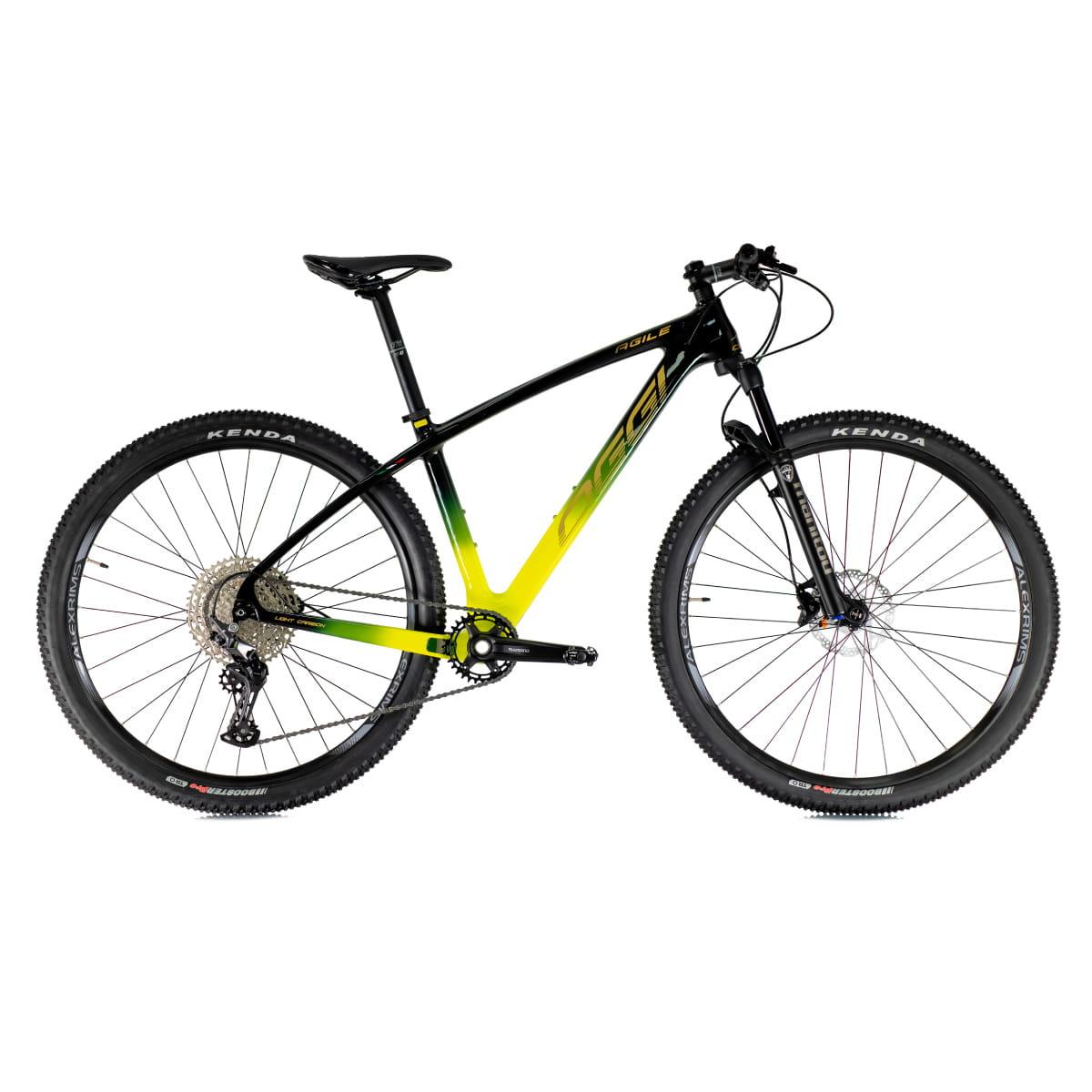 Bike Oggi Agile Sport Carbono 2021 Deore Original Preto e Amarelo