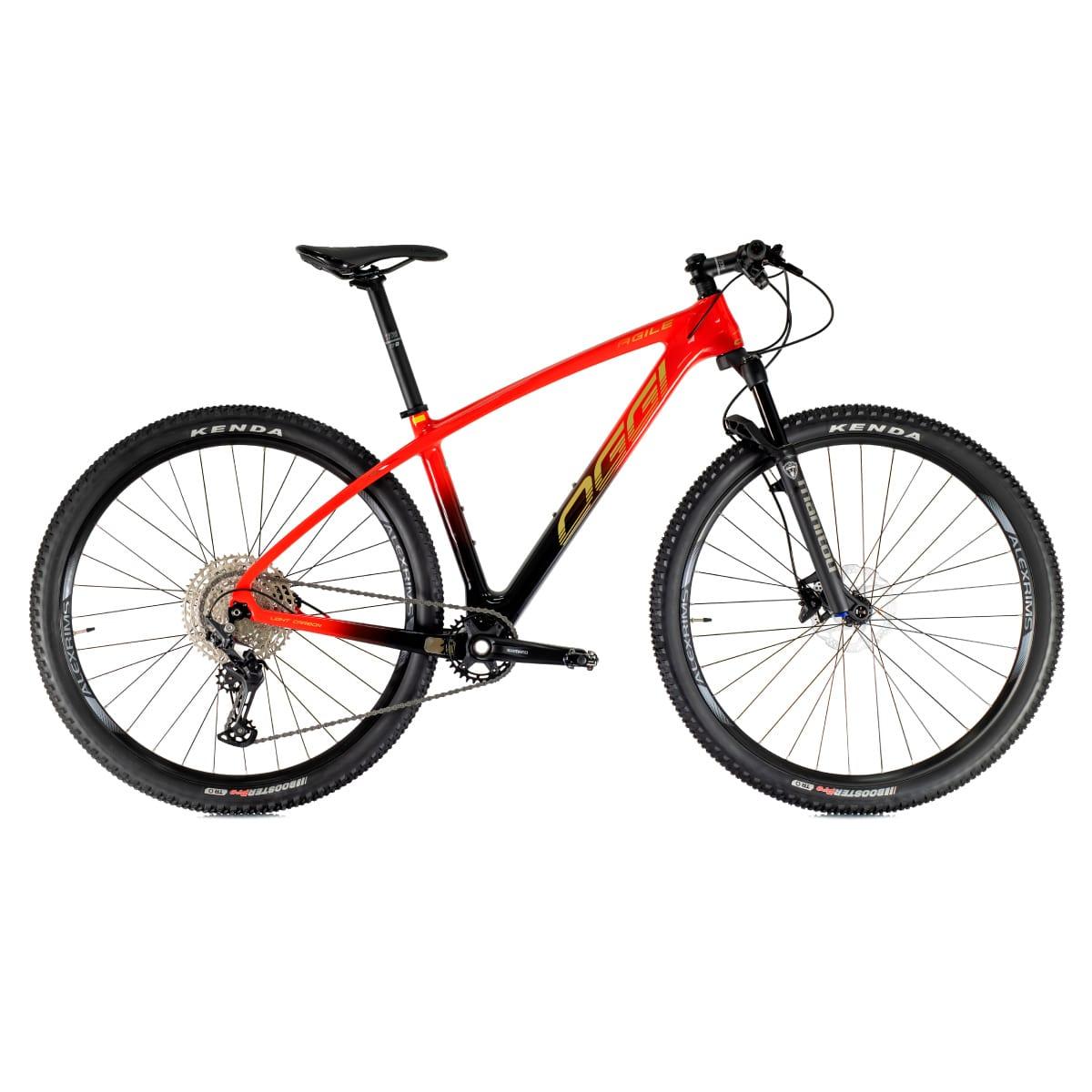 Bike Oggi Agile Sport Carbono 2021 Deore Original Vermelho e Preto