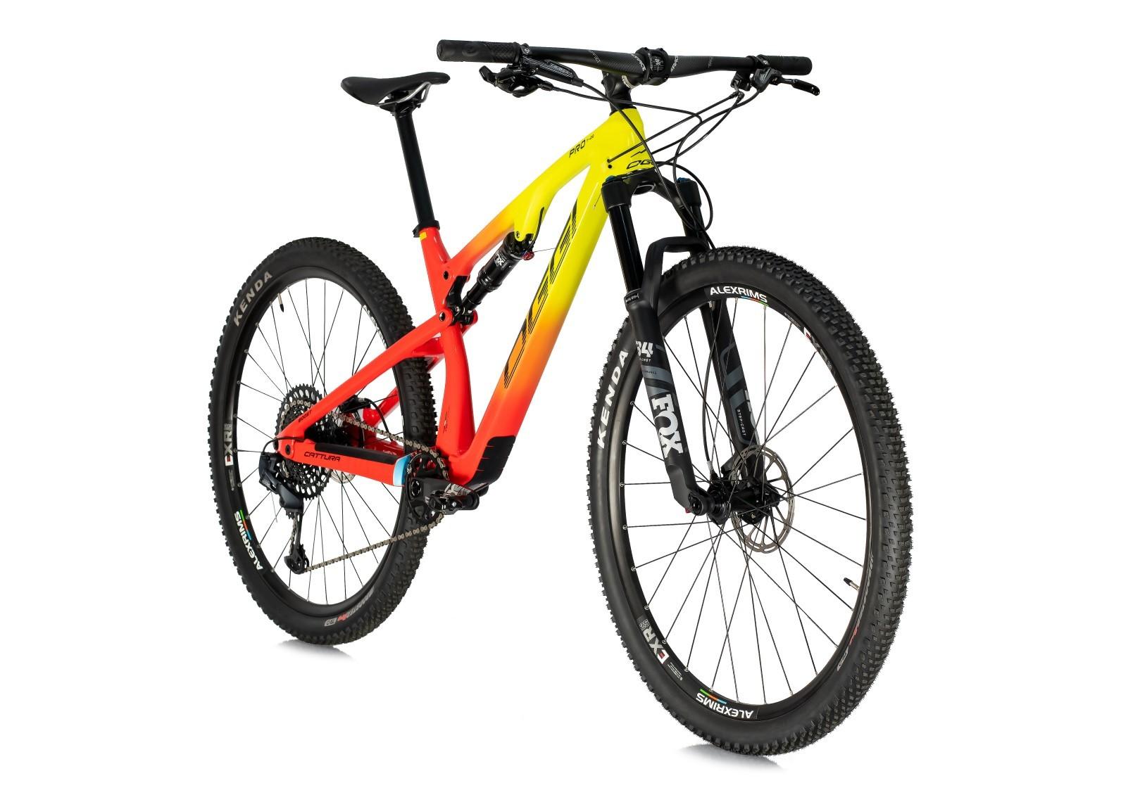 Bike Oggi Cattura Pro T-20 2021 Carbono Sram GX Vermelho Amarelo