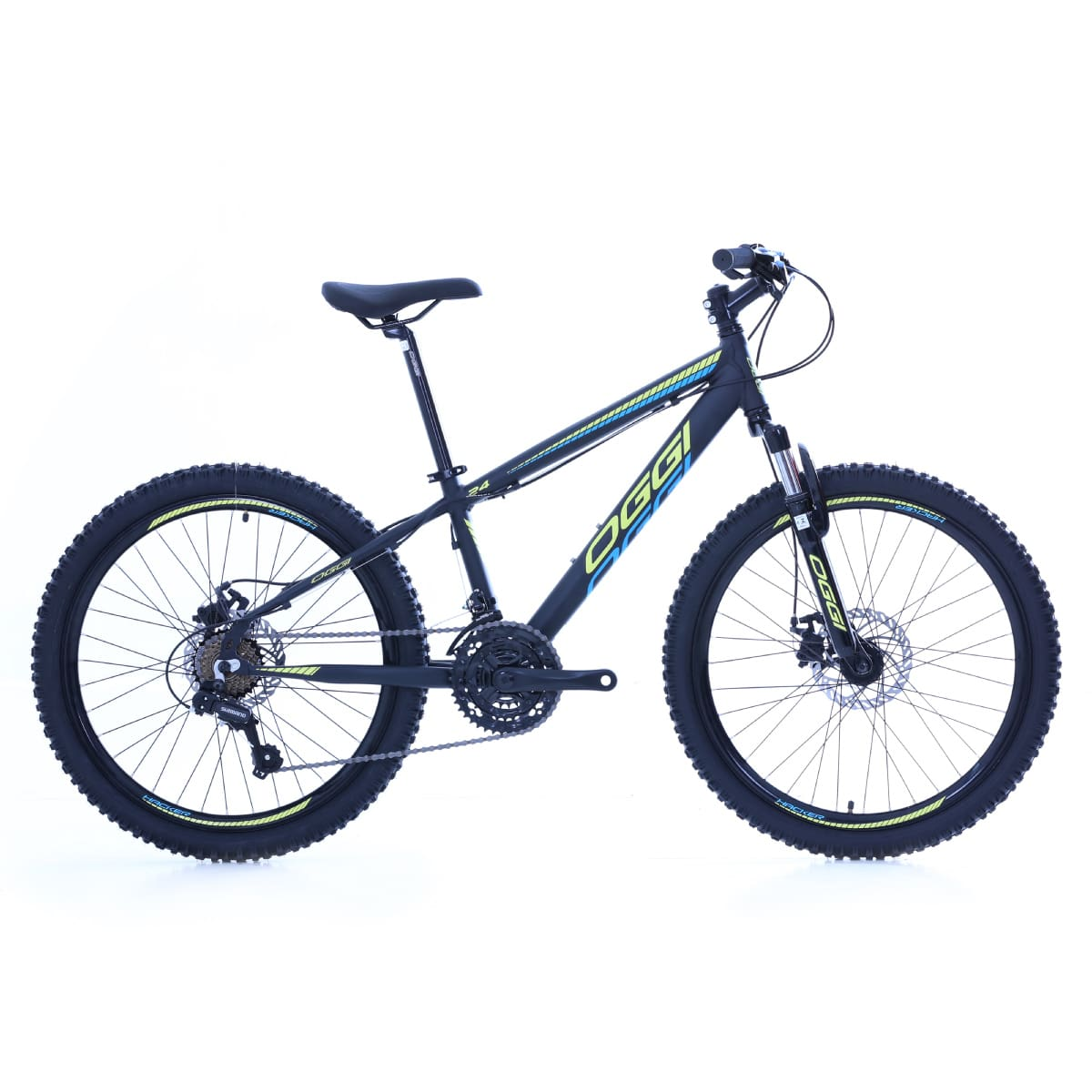 Bike Infantil Oggi Hacker Aro 24 2020 21v Freio a Disco Shimano