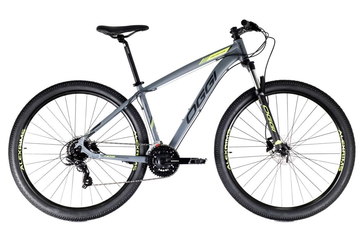 Bike Oggi Hacker HDS Hidráulico 2021 Shimano 24v Cinza e Verde