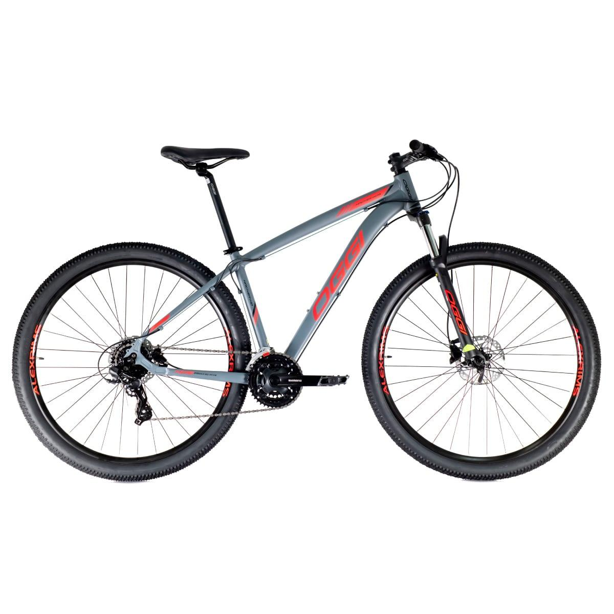 Bike Oggi Hacker HDS Hidráulico 2021 Shimano 24v Cinza e Vermelho