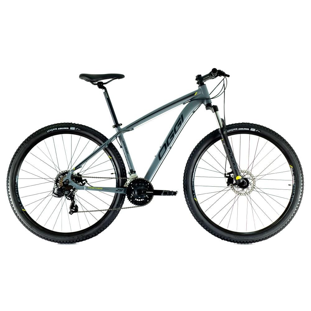 Bike Oggi Hacker Sport 2021 Cinza e Preto 21v Freio Mecanico Shimano Original