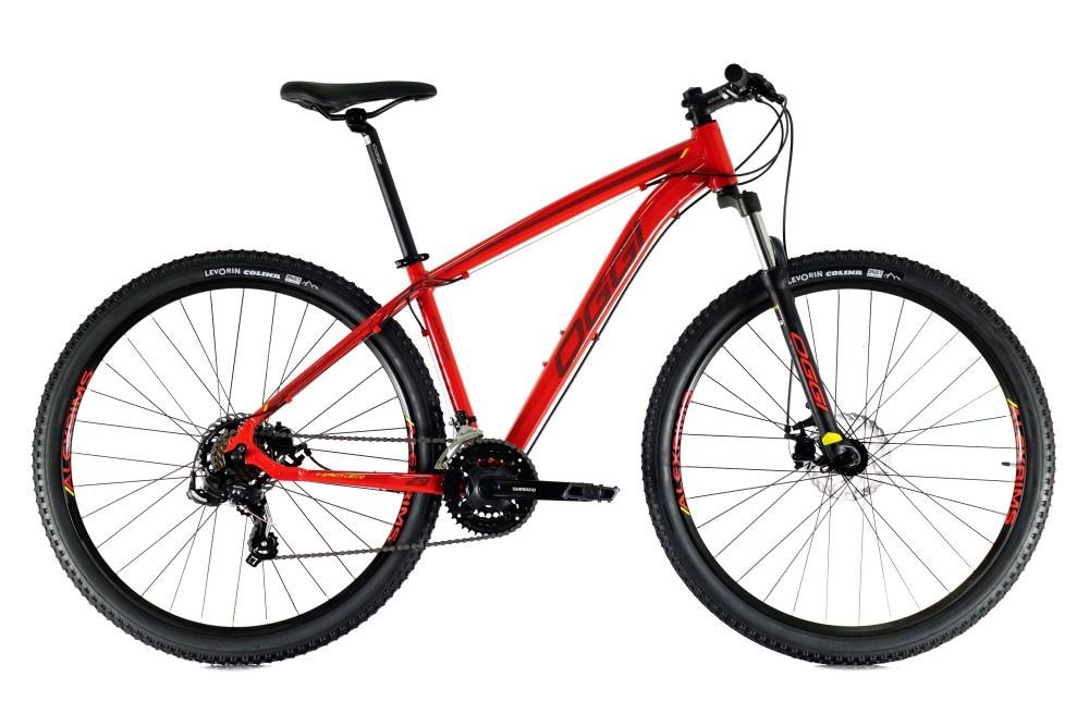 Bike Oggi Hacker Sport 2021 Vermelho 21v Freio Mecanico Shimano Original