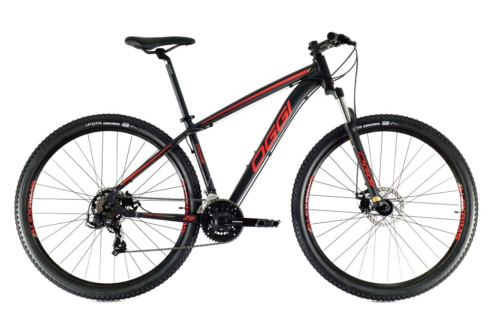 Bike Oggi Hacker Sport 2021Preto e Laranja 21v Freio Mecanico Shimano Original