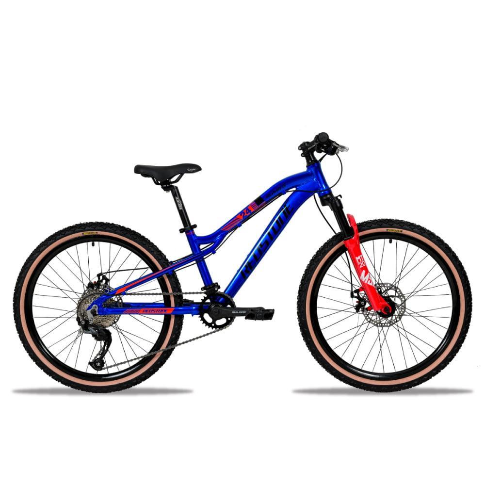 Bike Redstone Aro 24 Alpha 8 V Microshit Acolyte Azul Vermelho