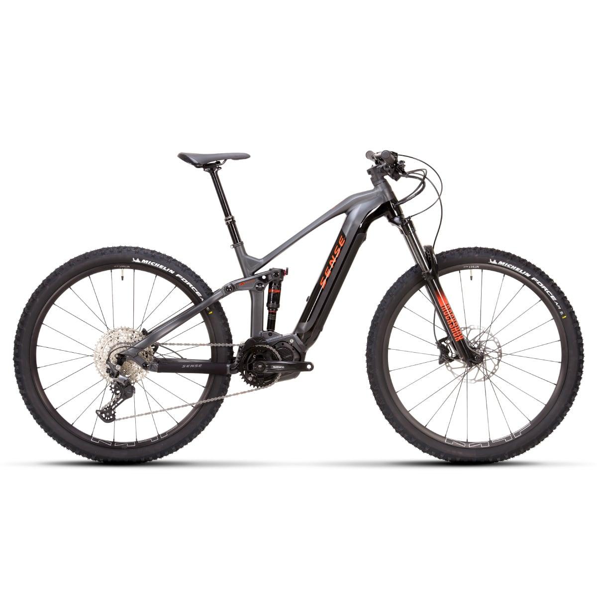 Bike Sense Eletrica Impulse E-Trail Comp 2021 Shimano Deore 12v Cinza e Laranja