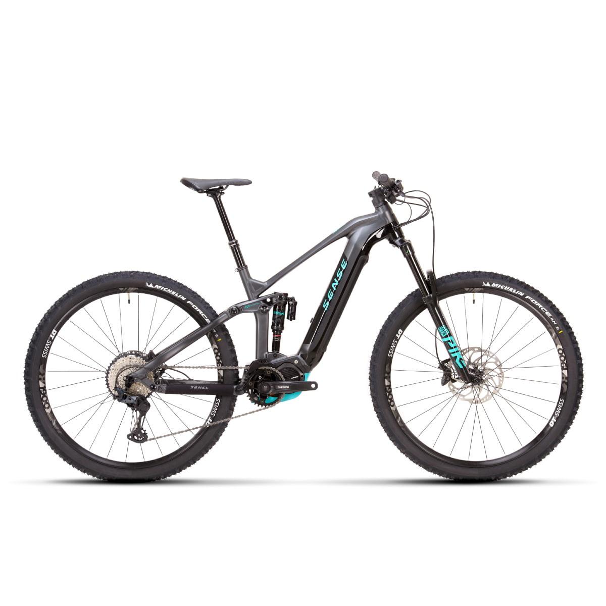 Bike Sense Eletrica Impulse E-Trail Evo 2021 SLX 12V Cinza e Aqua