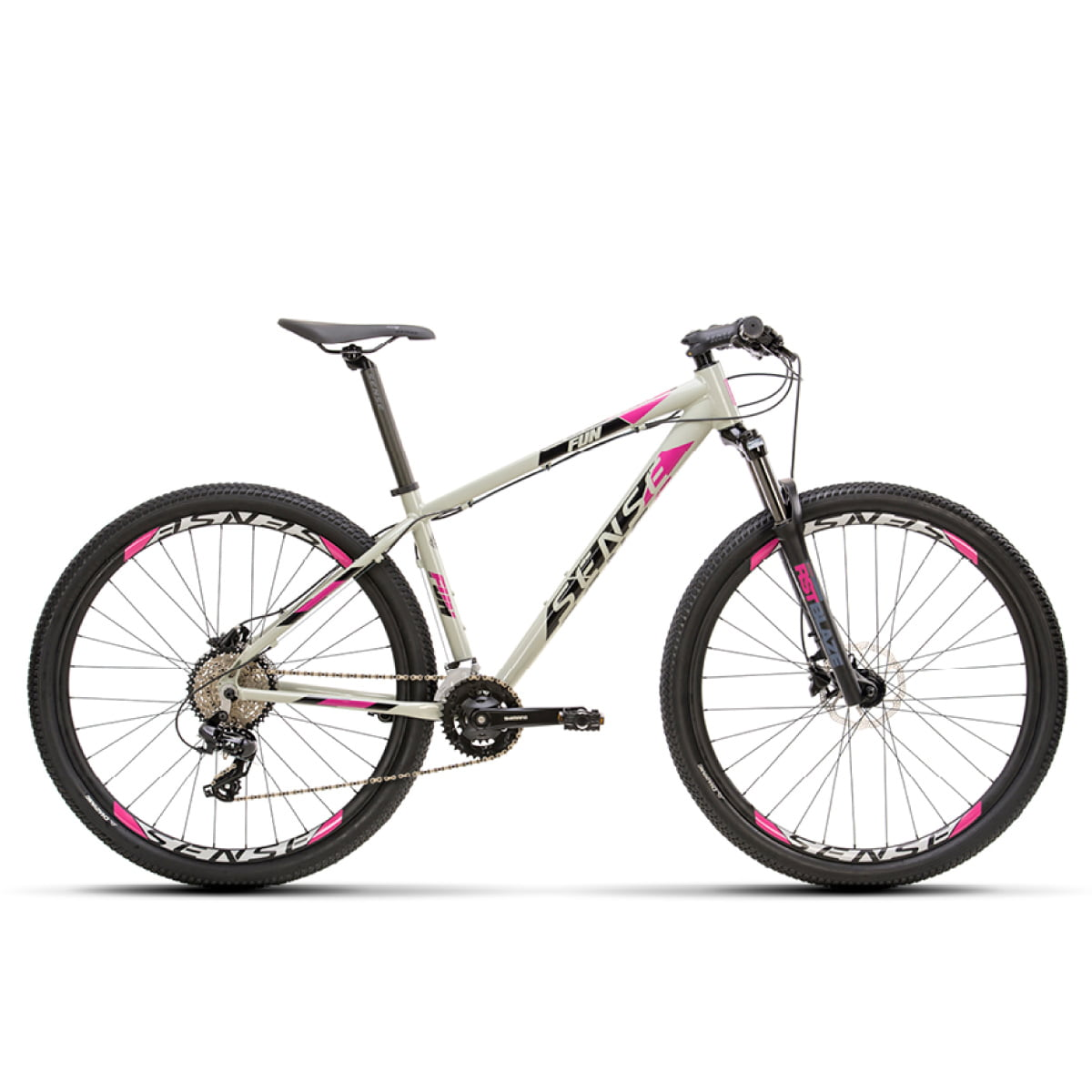 Bike Sense Fun Comp 2021 Cinza Roxo