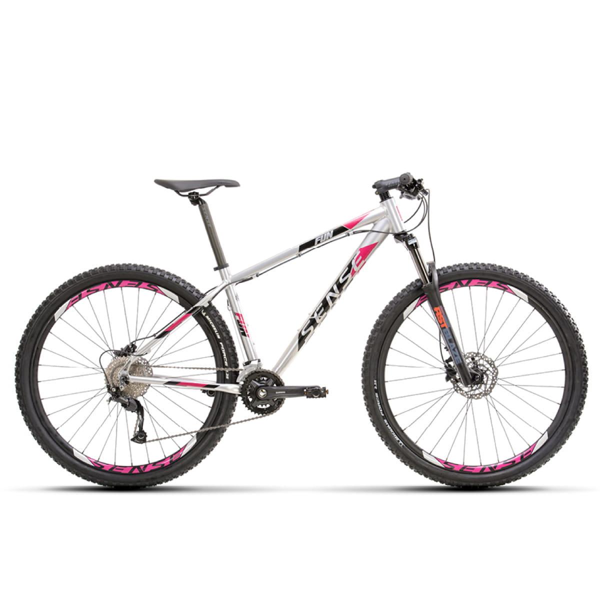 Bike Sense Fun Evo 2021 Cinza Rosa