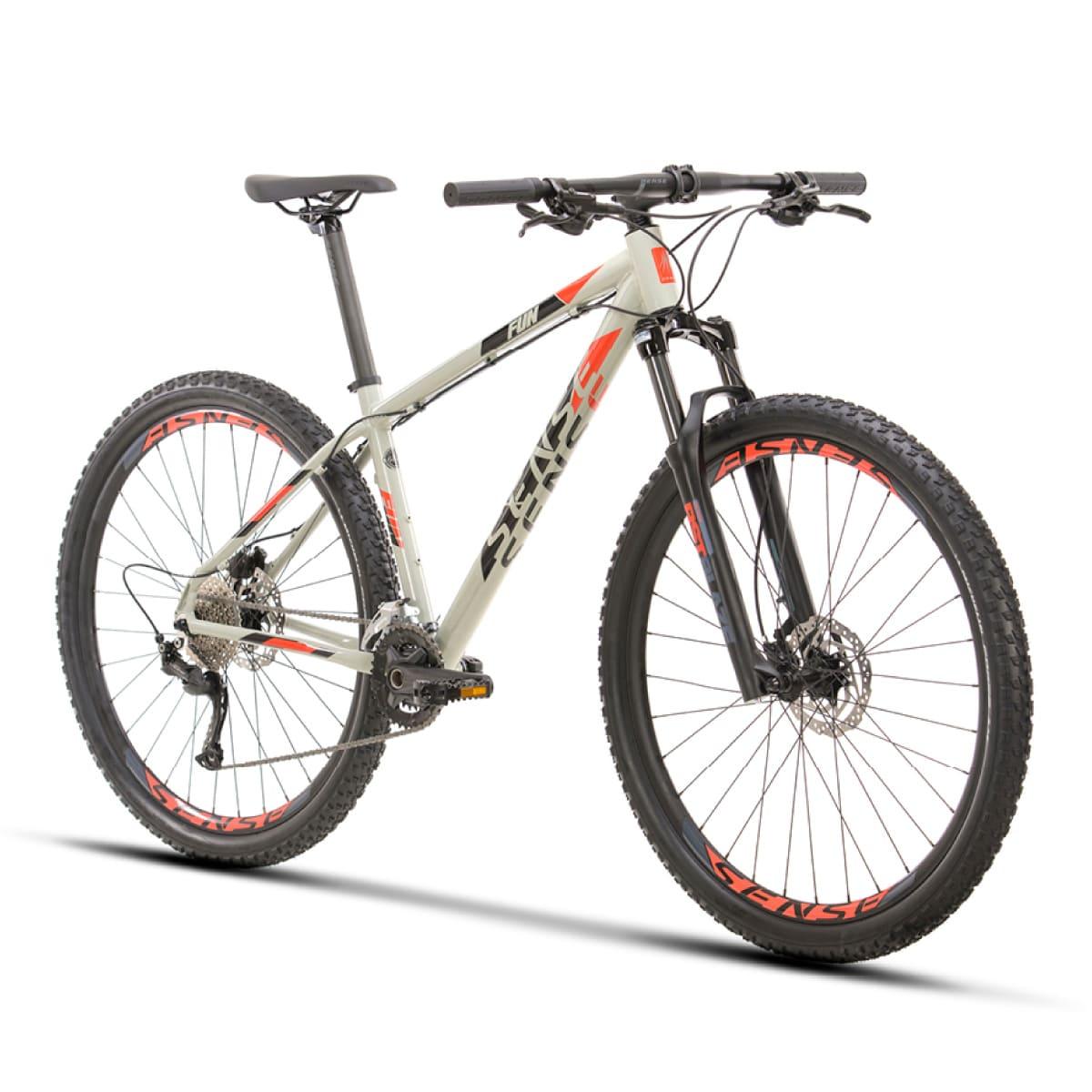 Bike Sense Fun Evo 2021 Cinza Vermelho