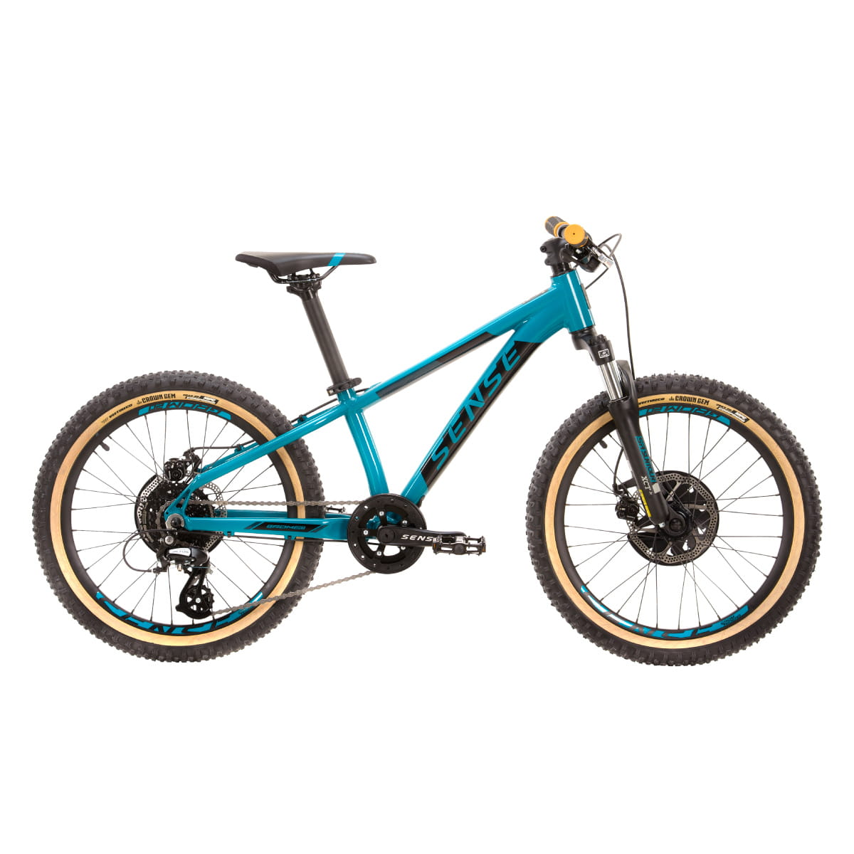 Bike Sense Grom 20 2021 Shimano 8v Aqua e Preto