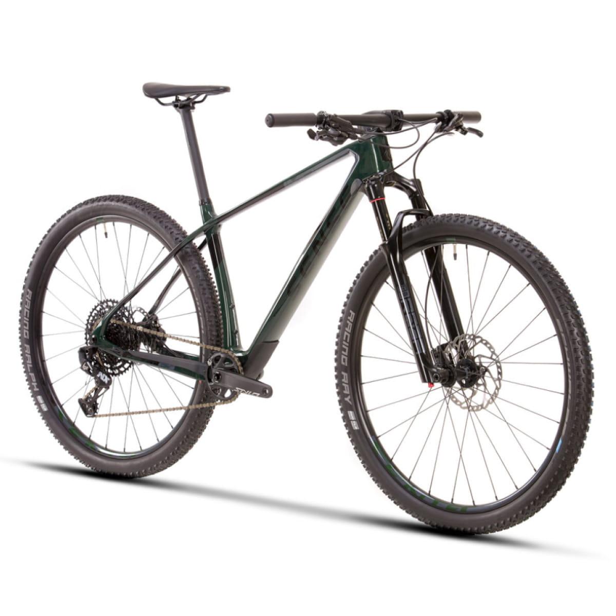 Bike Sense Impact Carbon Comp 2021 Sram Eagle NX 12V Verde e Cinza