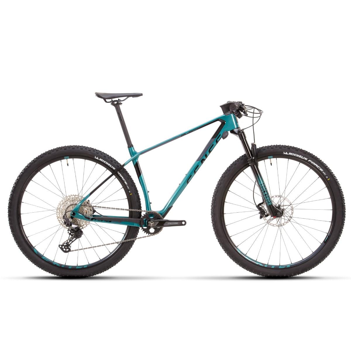 Bike Sense Impact Carbon Pro 2021 Shimano Deore 12v Verde e Cinza