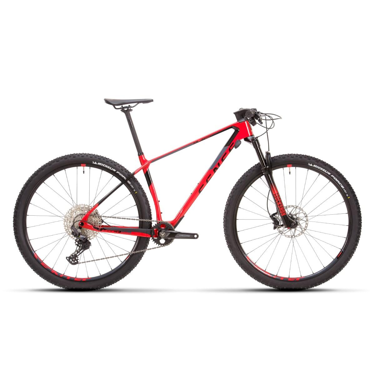 Bike sense Impact Carbon Pro 2021 Shimano Deore 12v Vermelho e Cinza