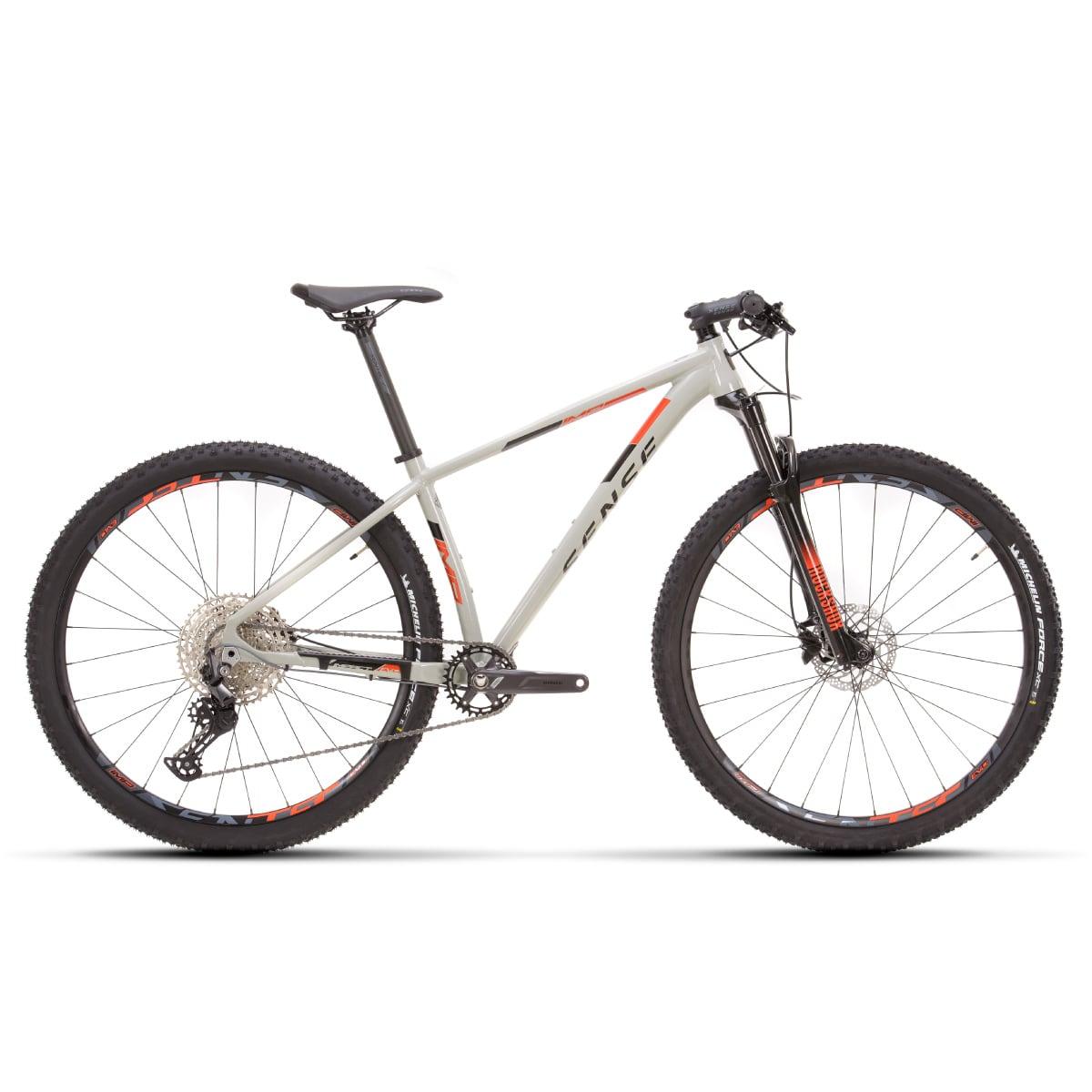 Bike Sense Impact Evo 2021 Shimano Deore 12v Cinza e Laranja