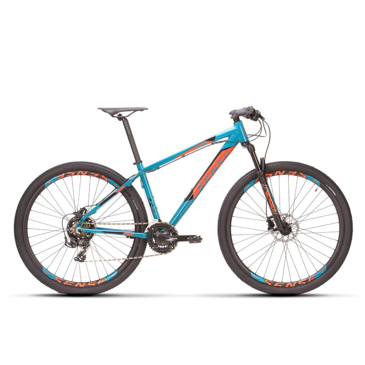 Bike Sense One 2021 21 Velocidades Azul e Laranja