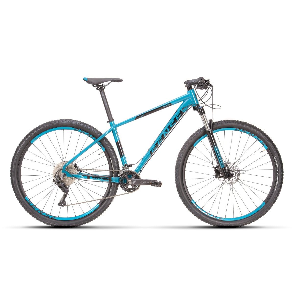Bike Sense Rock Evo 2021 Shimano Deore 2x10V Aqua e Preto