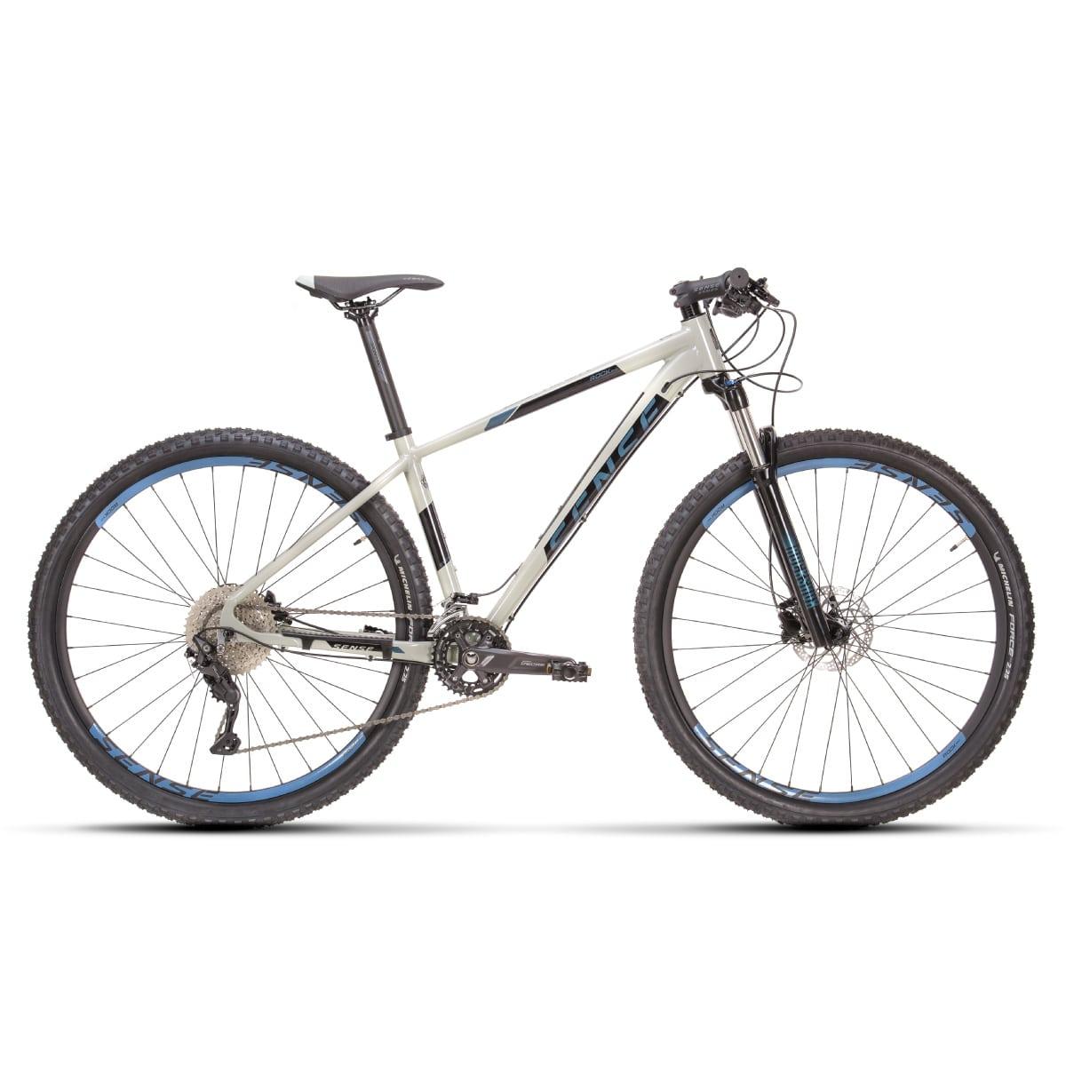 Bike Sense Rock Evo 2021 Shimano Deore 2x10V Cinza e Azul