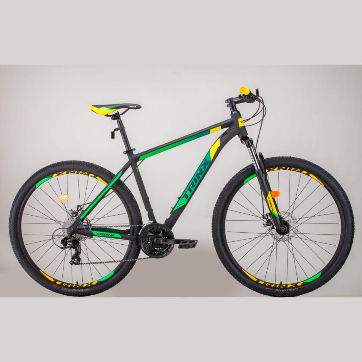Bike Trinx M100 Max 2020 24v Shimano Verde Amarela