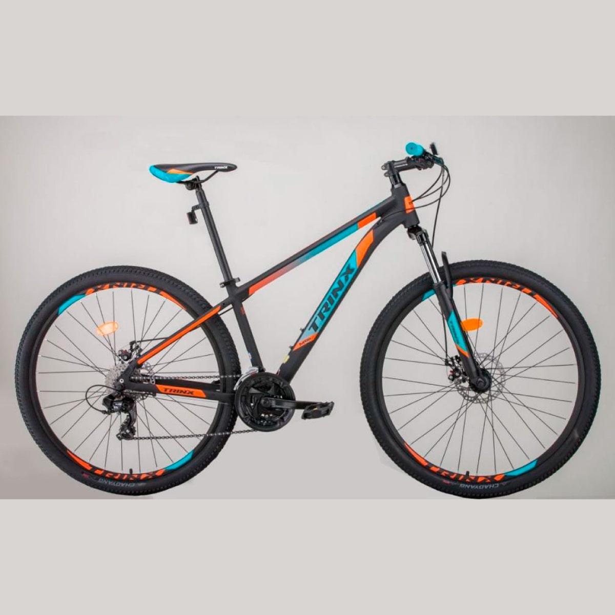 Bike Trinx M100 Pro 2020 24v Shimano Verde Laranja
