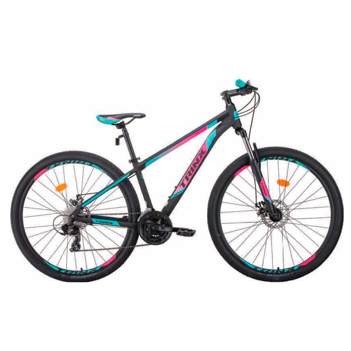 Bike Trinx M100 Max 2020 24v Shimano Verde Rosa