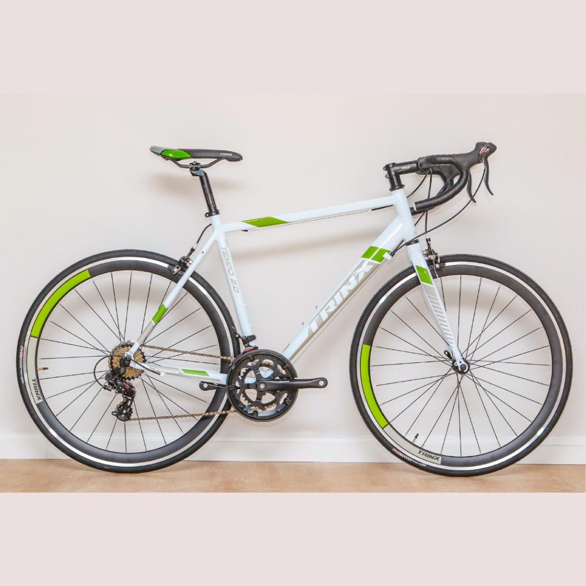 Bike Trinx Tempo 2.0 2020 14v Shimano Branco Verde