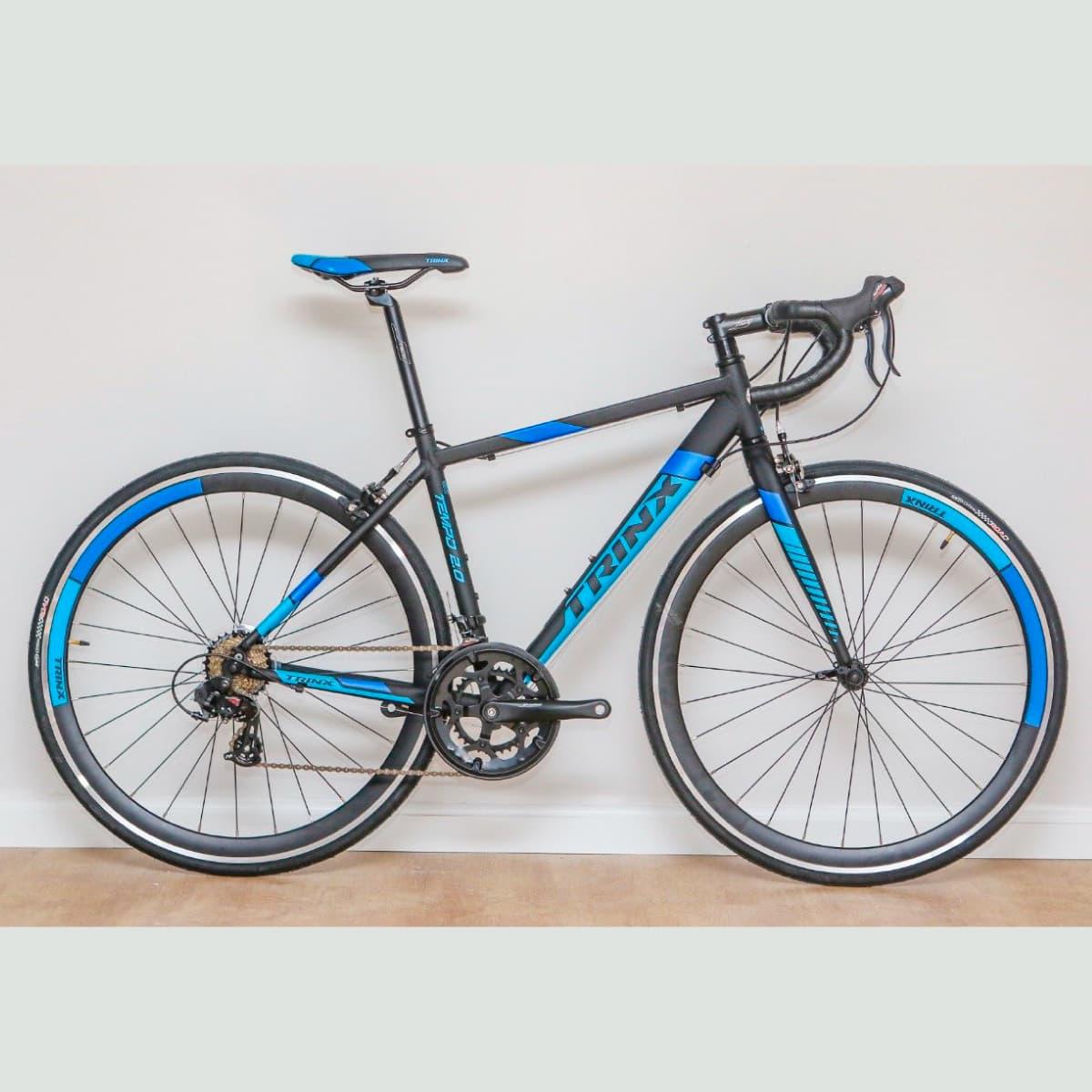 Bike Trinx Tempo 2.0 2020 14v Shimano Preto Azul